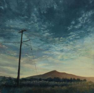 Mackerel Sky with Telegraph Pole - 2020